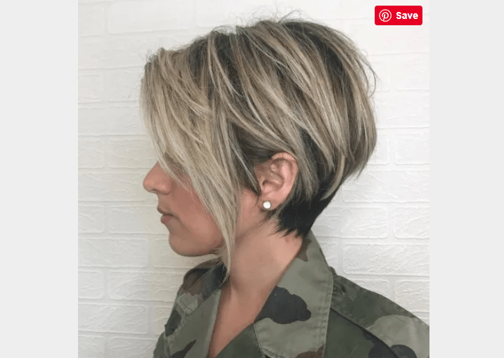 Black and Ash Blonde Hair style