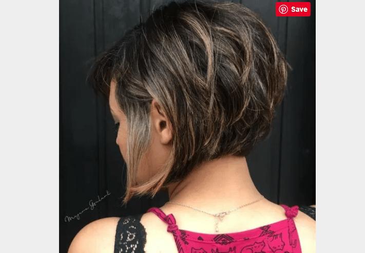 Inverted Brunette hair cut