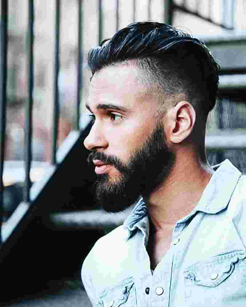 Short Modern Quiff With Faded Sides